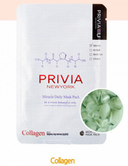 "Маска тканевая ""PRIVIA Miracle Daily Mask Pack (Collagen)"" 23 г"