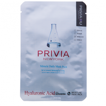 "Маска тканевая ""Privia Miracle Daily Mask Pack (Hyaluronic Acid)"" 23 г"
