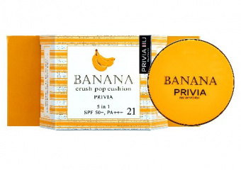 "СС-крем кушон ""PRIVIA Banana Crush Pop Cushion №21 SPF50"" 15 г"